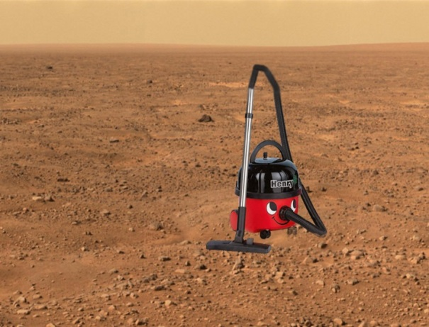 Numatic-Henry-Canister-Vacuum-On-Mars